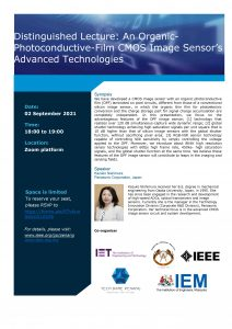 Distinguished Lecture: An Organic-Photoconductive-Film CMOS Image Sensor's Advanced Technologies