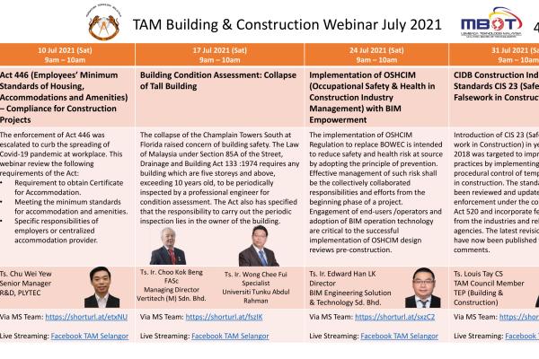 TAM Building and Construction Webinar 2021